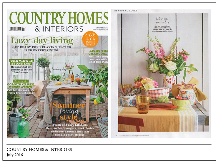 Country Homes & Interiors, July 2016